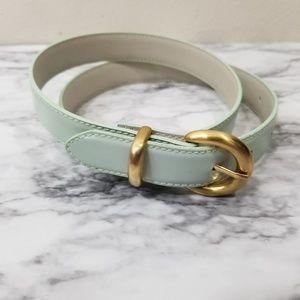 Mint green girls belt